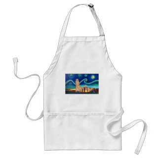 Starry Night in Pisa with Leaning Tower Standard Apron