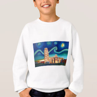 Starry Night in Pisa with Leaning Tower Sweatshirt