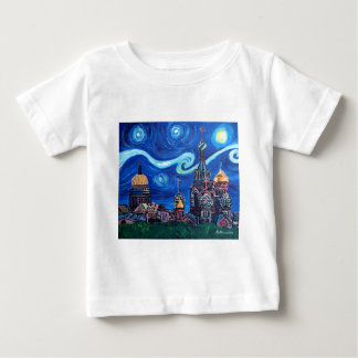 Starry Night in St Petersburg Russia Baby T-Shirt