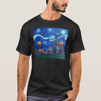 Starry Night in St Petersburg Russia T-Shirt