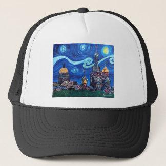 Starry Night in St Petersburg Russia Trucker Hat