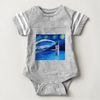 Starry Night in Switzerland - Vierwaldstätter See Baby Bodysuit