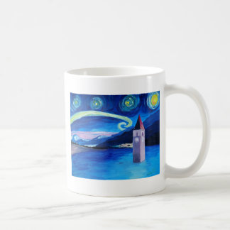 Starry Night in Switzerland - Vierwaldstätter See Coffee Mug