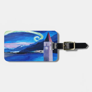 Starry Night in Switzerland - Vierwaldstätter See Luggage Tag