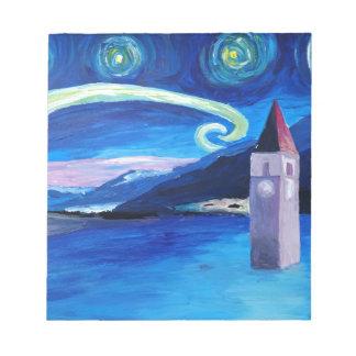 Starry Night in Switzerland - Vierwaldstätter See Notepad