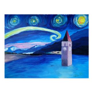 Starry Night in Switzerland - Vierwaldstätter See Postcard