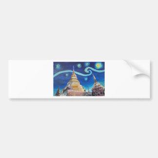 Starry Night in Thailand - Van Gogh Inspirations Bumper Sticker