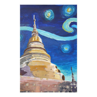 Starry Night in Thailand - Van Gogh Inspirations Customized Stationery