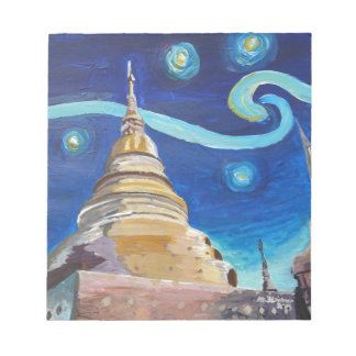 Starry Night in Thailand - Van Gogh Inspirations Notepad