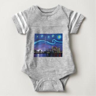 Starry Night in Toronto with Van Gogh Inspirations Baby Bodysuit