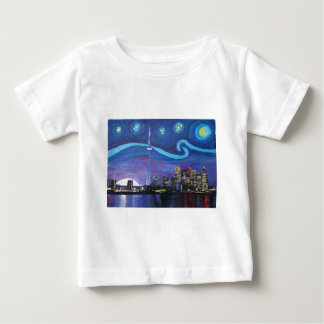 Starry Night in Toronto with Van Gogh Inspirations Baby T-Shirt