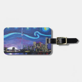 Starry Night in Toronto with Van Gogh Inspirations Bag Tag