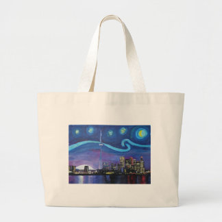 Starry Night in Toronto with Van Gogh Inspirations Large Tote Bag