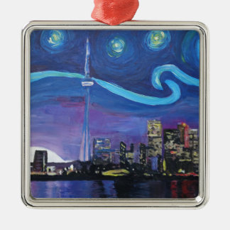 Starry Night in Toronto with Van Gogh Inspirations Metal Ornament
