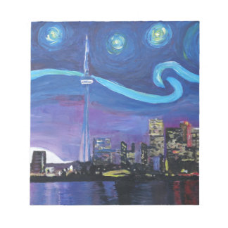Starry Night in Toronto with Van Gogh Inspirations Notepad