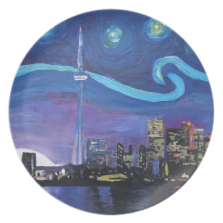 Starry Night in Toronto with Van Gogh Inspirations Plate