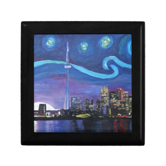 Starry Night in Toronto with Van Gogh Inspirations Small Square Gift Box