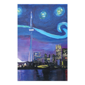 Starry Night in Toronto with Van Gogh Inspirations Stationery