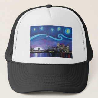 Starry Night in Toronto with Van Gogh Inspirations Trucker Hat