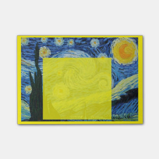 Starry Night in Yellow Post-it Post-it Notes