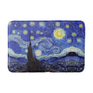 Starry Night Inspired Bath Mats