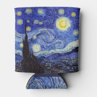 Starry Night  Inspired Van Gogh Classic Can Cooler