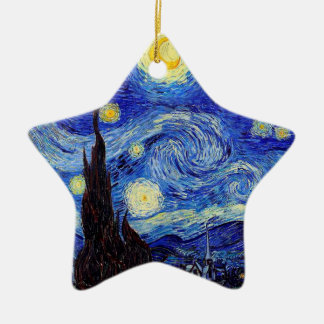 Starry Night  Inspired Van Gogh Classic Products Ceramic Ornament