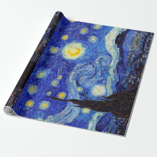 Starry Night  Inspired Van Gogh Classic Products Wrapping Paper