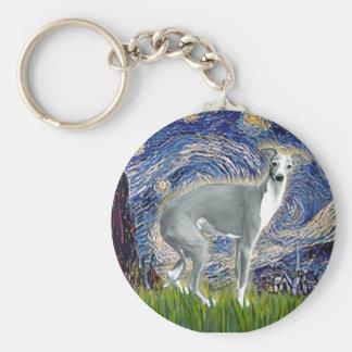 Starry Night - Italian Greyhound 4darkgreystand Key Ring