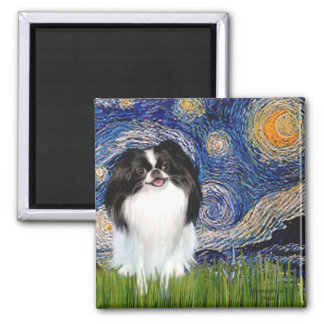 Starry Night - Japanese Chin 3 Magnet