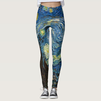 Starry Night Leggins - Vincent Van Gogh Art Leggings