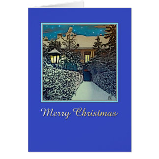 Starry Night  -  Merry Christmas Greeting Card