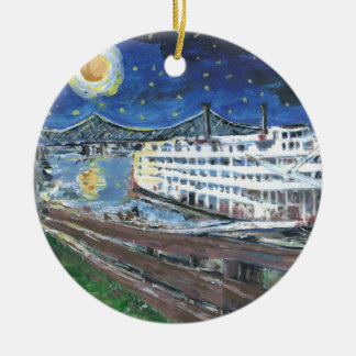 Starry Night Mississippi Queen Ceramic Ornament