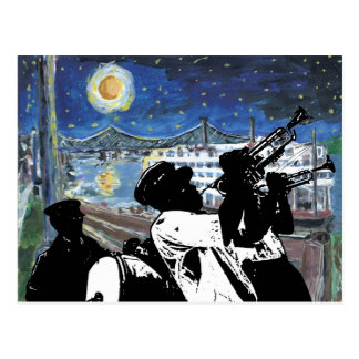 Starry Night Mississippi Queen Postcard