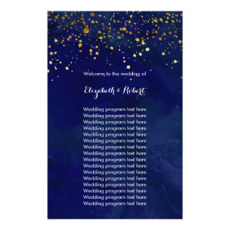 Starry Night Navy and Faux Gold Glitter Flyer