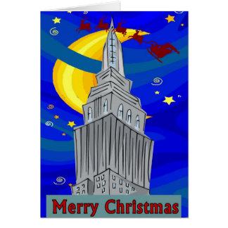 Starry Night New York Christmas Greeting Card