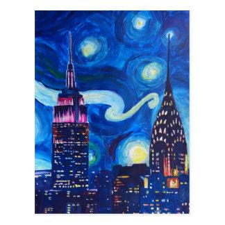 Starry Night New York Postcard