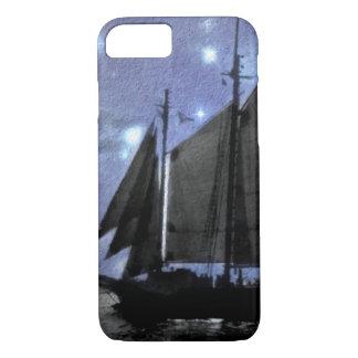 starry night ocean sea sailing ship sailboat iPhone 7 case