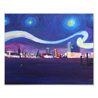Starry night of Hamburg with Elbe Philharmonic Hal Photo