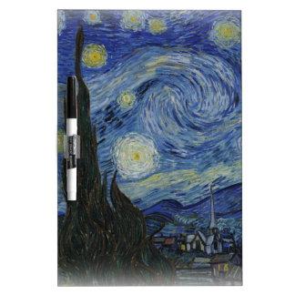 Starry night of Vincent  van gogh Dry Erase Board