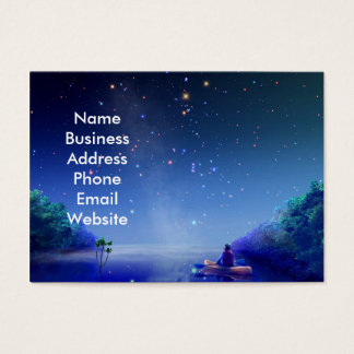 Starry Night on the River Business Card