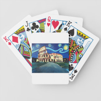 Starry Night over Colloseum in Rome Italy Bicycle Playing Cards