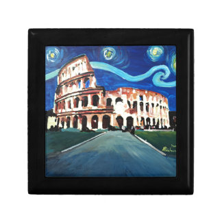 Starry Night over Colloseum in Rome Italy Gift Box