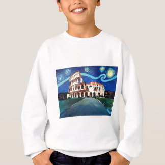 Starry Night over Colloseum in Rome Italy Sweatshirt