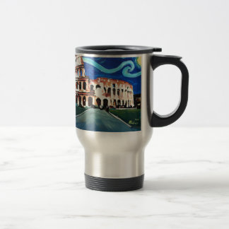 Starry Night over Colloseum in Rome Italy Travel Mug