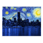 Starry Night Over New York City Postcards