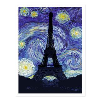Starry Night Over Paris Postcard