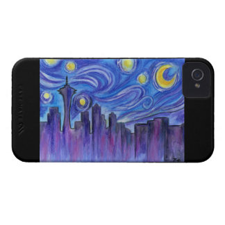 Starry Night Over Seattle Case-Mate iPhone 4 Case