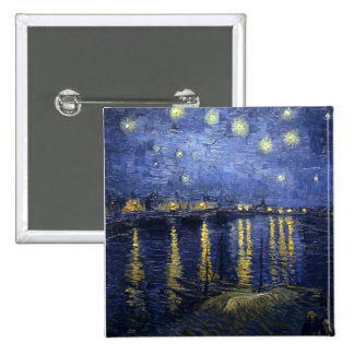 Starry Night Over the Rhone 15 Cm Square Badge