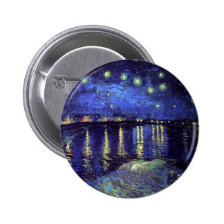 starry night over the rhone 1890 button